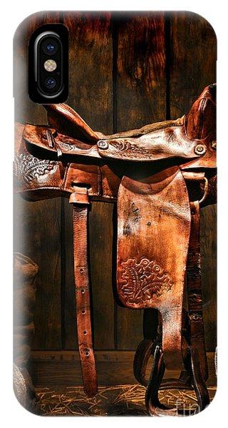 Old Western Saddle IPhone Case