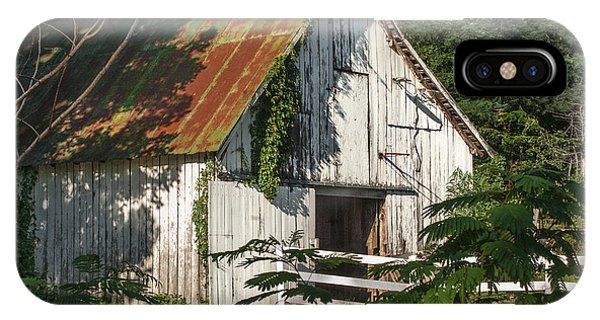 Old Whitewashed Barn In Tennessee IPhone Case