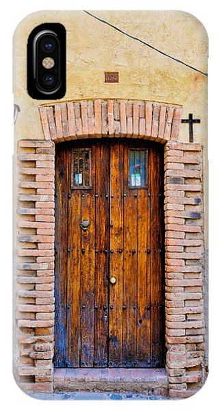 Old Wooden Door - Mexico - Photograph By David Perry Lawrence IPhone Case