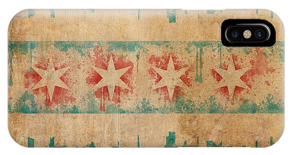 Chicago Art iPhone Case - Old World Chicago Flag by Mike Maher