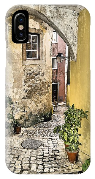 Old World Courtyard Of Europe IPhone Case