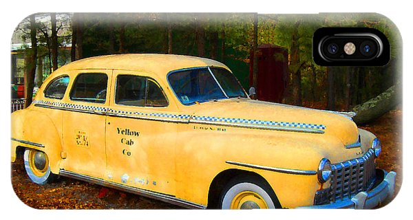 Old Yellow Cab IPhone Case