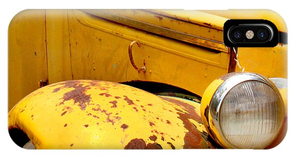 Transportation iPhone Case - Old Yellow Truck by Art Block Collections