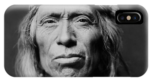 Portraits iPhone X Case - Old Zuni Man Circa 1903 by Aged Pixel