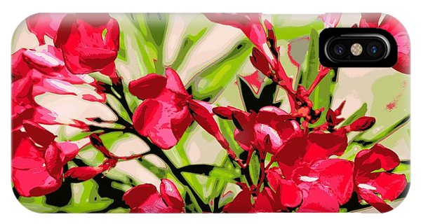 Oleander Red Phone Case by Sheri McLeroy