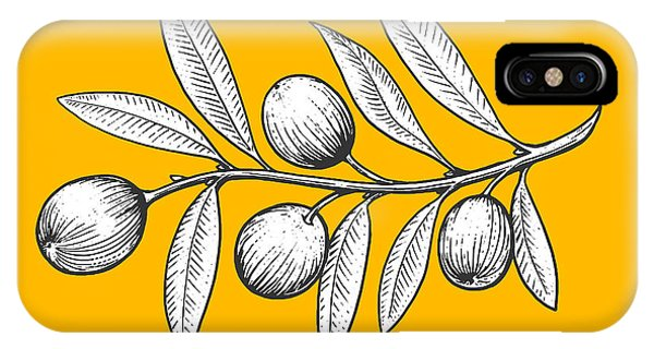 Olive Branch Engraving Style Vector Phone Case by Alexander p