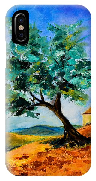 Olive Tree On The Hill IPhone Case