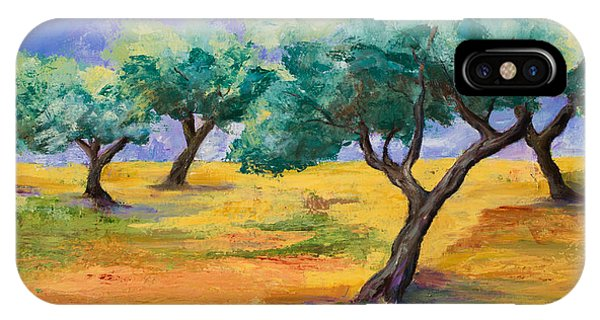 Fauvism iPhone Case - Olive Trees Grove by Elise Palmigiani