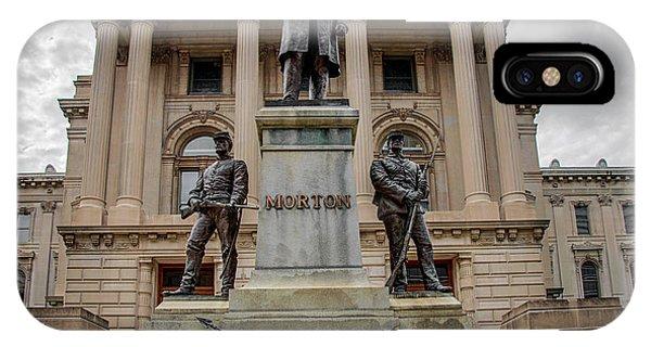 Oliver P. Morton Monument IPhone Case