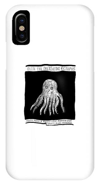 Ollie The Uncreative Octopus -- Favorite Animal: IPhone Case