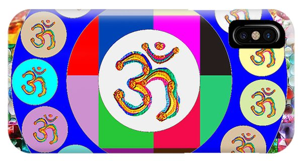 Om Mantra Dedication  Devotion Symbol Assembly By Artist N Reiki Healing Master Navinjoshi IPhone Case