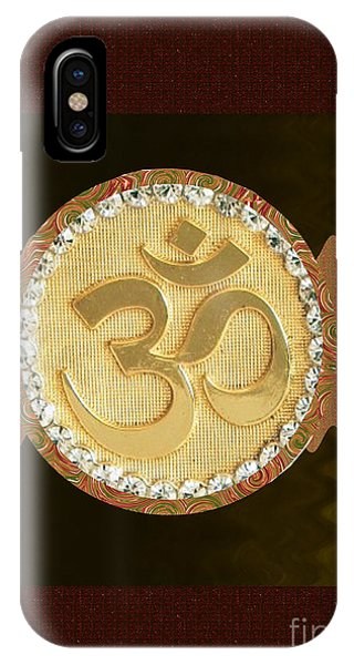 Om Mantra Ommantra Hinduism Symbol Sound Chant Religion Religious Genesis Temple Veda Gita Tantra Ya IPhone Case