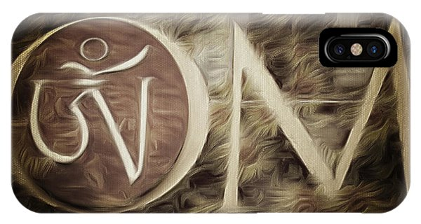 Om Sepia IPhone Case
