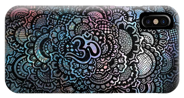 Decorative iPhone Case - Om Sweet Om by Andrea Stephenson