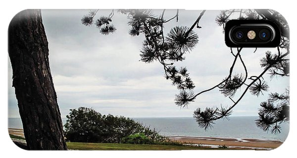 Omaha Beach Under Trees IPhone Case