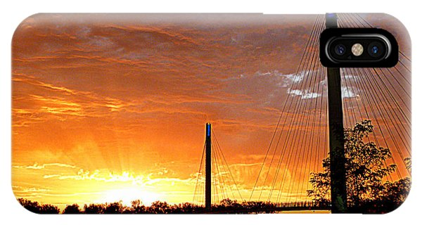 IPhone Case featuring the photograph Omaha Sunrise by Jeff Lowe