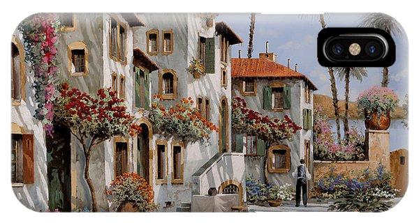 Village iPhone Case - Ombre Al Pomeriggio by Guido Borelli