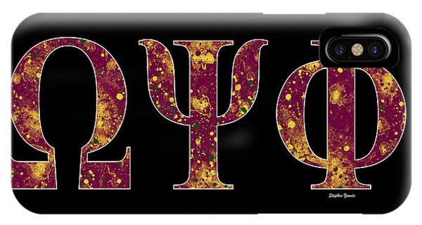 Omega Psi Phi - Black IPhone Case