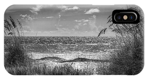 Ocean Breeze iPhone Case - On A Clear Day-bw by Marvin Spates