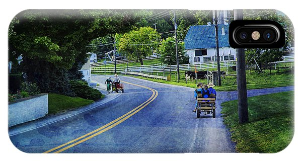 Amish Country iPhone Case - On A Country Road - Lancaster - Pennsylvania by Madeline Ellis