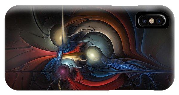 Fractal Landscape iPhone Case - On Air by Karin Kuhlmann