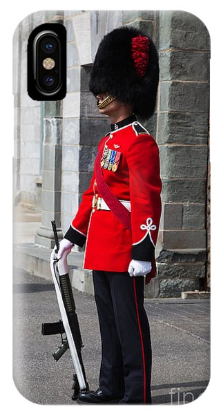 Quebec City iPhone Case - On Guard Quebec City by Edward Fielding