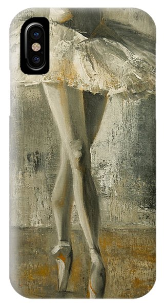 IPhone Case featuring the painting En Pointe by Jani Freimann