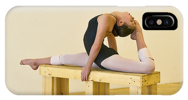 Practicing Ballet On The Bench IPhone Case