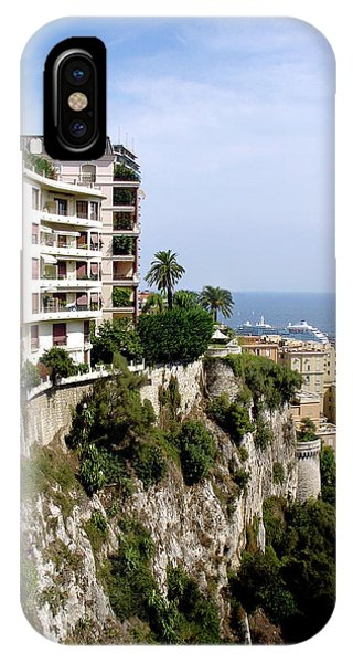 On The Cliff In Monaco IPhone Case