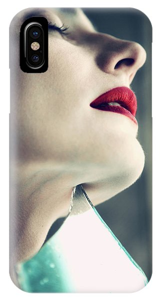 Lips iPhone Case - On The Edge by Magdalena Russocka
