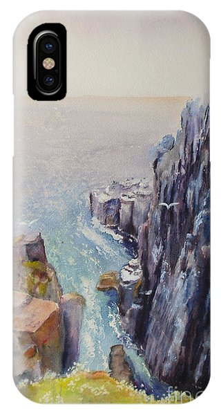 On The Edge Of The Cliff IPhone Case
