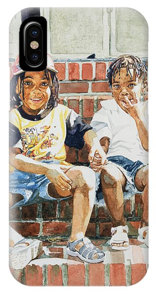 Porch iPhone Case - On The Front Step by Colin Bootman