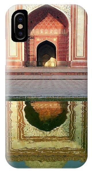 On The Grounds Of The Taj Mahal Phone Case by Steve Roxbury