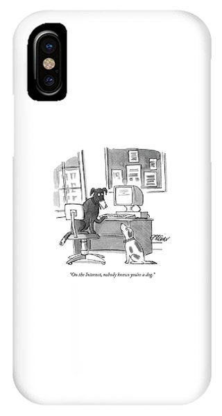 iPhone Case - On The Internet by Peter Steiner