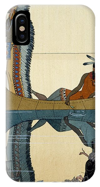 American Indian iPhone Case - On The Missouri by Georges Barbier