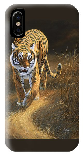Tiger iPhone Case - On The Move by Lucie Bilodeau