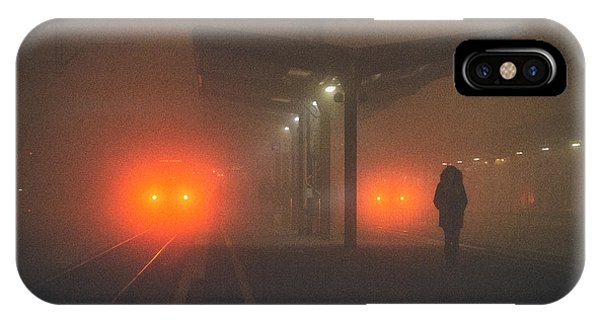 On The Platform Or At The Subway Station Phone Case by Matija Posavec