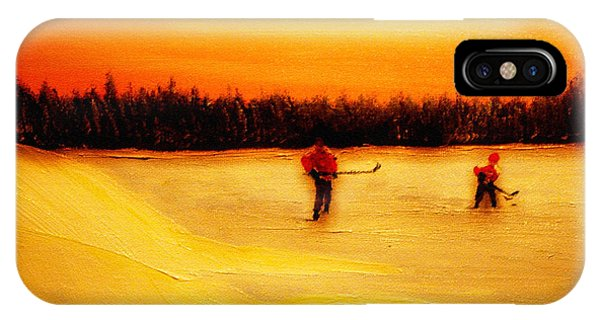 On The Pond With Dad IPhone Case
