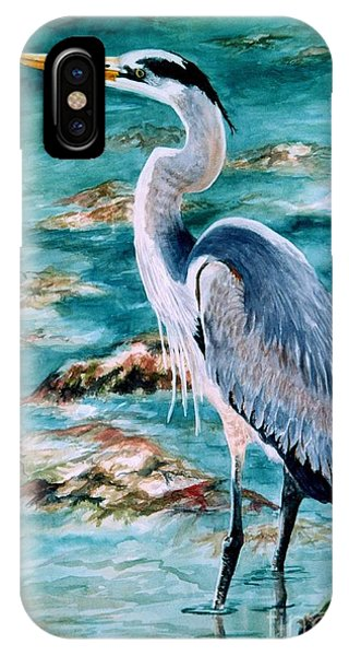 On The Rocks Great Blue Heron IPhone Case