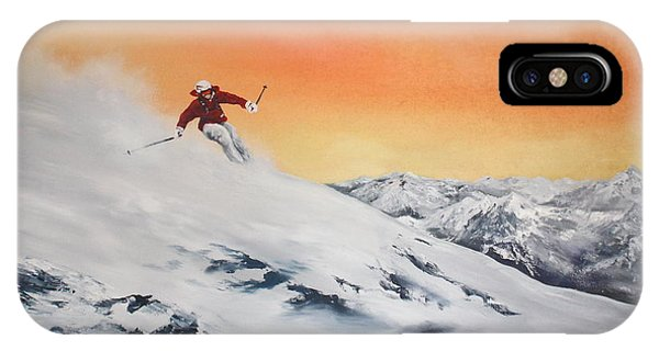 On The Slopes IPhone Case