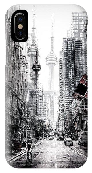 Futuristic iPhone Case - On The Streets Of Toronto by Carmine Chiriac?