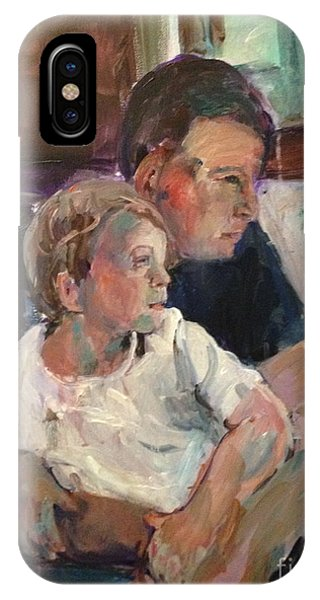 On The Train Phone Case by Elaine Schloss