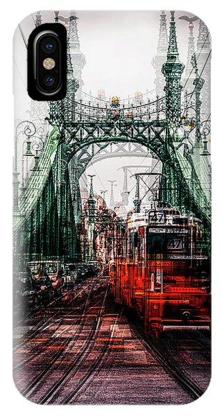 Train Tracks iPhone Case - On The Tram by Carmine Chiriac??