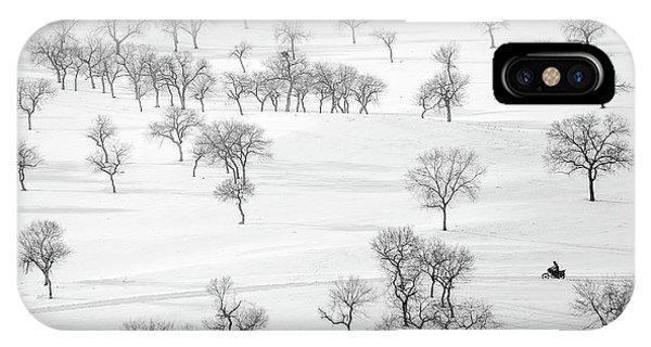 Winter iPhone Case - On The Way by Bingo Z