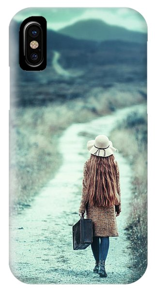 Leave iPhone Case - On The Way by Magdalena Russocka