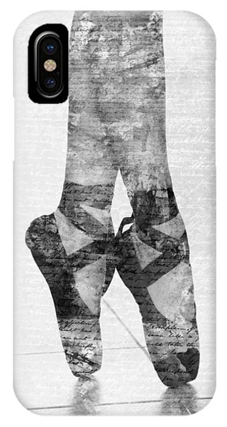 Dance iPhone Case - On Tippie Toes In Black And White by Nikki Marie Smith