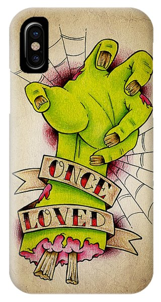 Color Pencil iPhone Case - Once Loved by Samuel Whitton