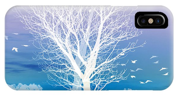 Blue iPhone Case - Once Upon A Moon Lit Night... by Holly Kempe