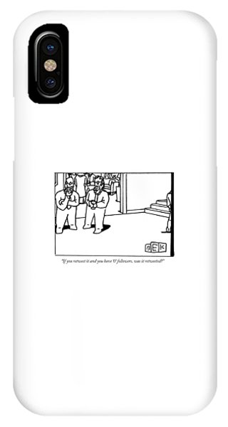 One Bearded Man Speaks To Another Bearded Man IPhone Case