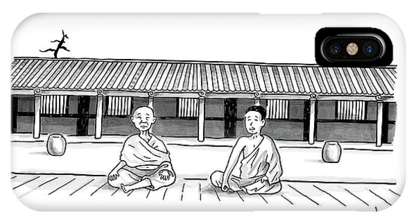 One Buddhist Monk Asks Another While Meditating IPhone Case